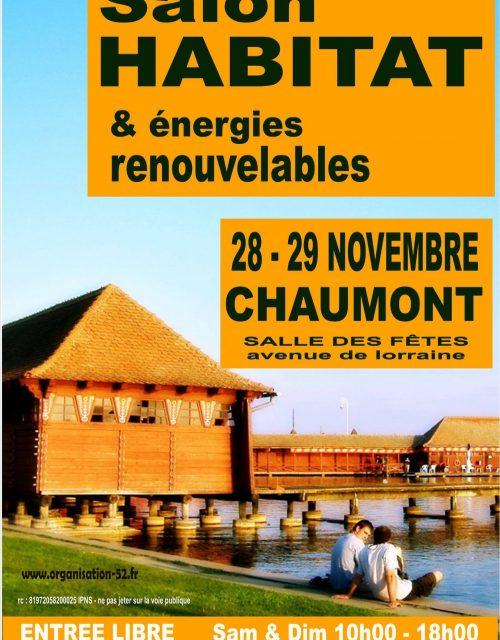 salon de l'habitat de chaumont le 28 & 28 novembre 2020